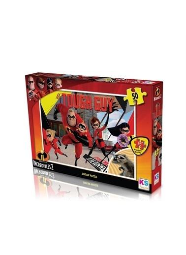 KS Puzzle KS Puzzle INC709 Incredibles 2 Temalı 50 ParÇa Çocuk Puzzle Renkli